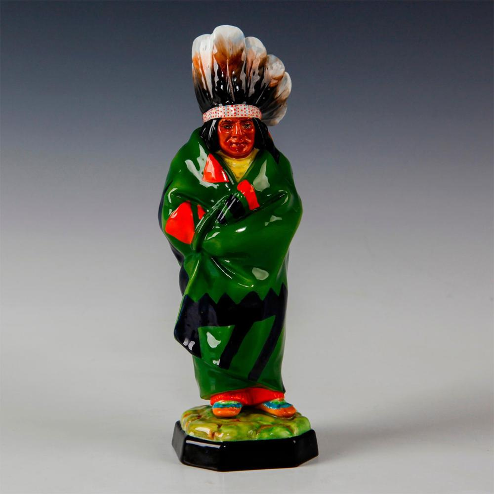 ROYAL WORCESTER NATIVE AMERICAN FIGURINE, INDIAN CHIEF