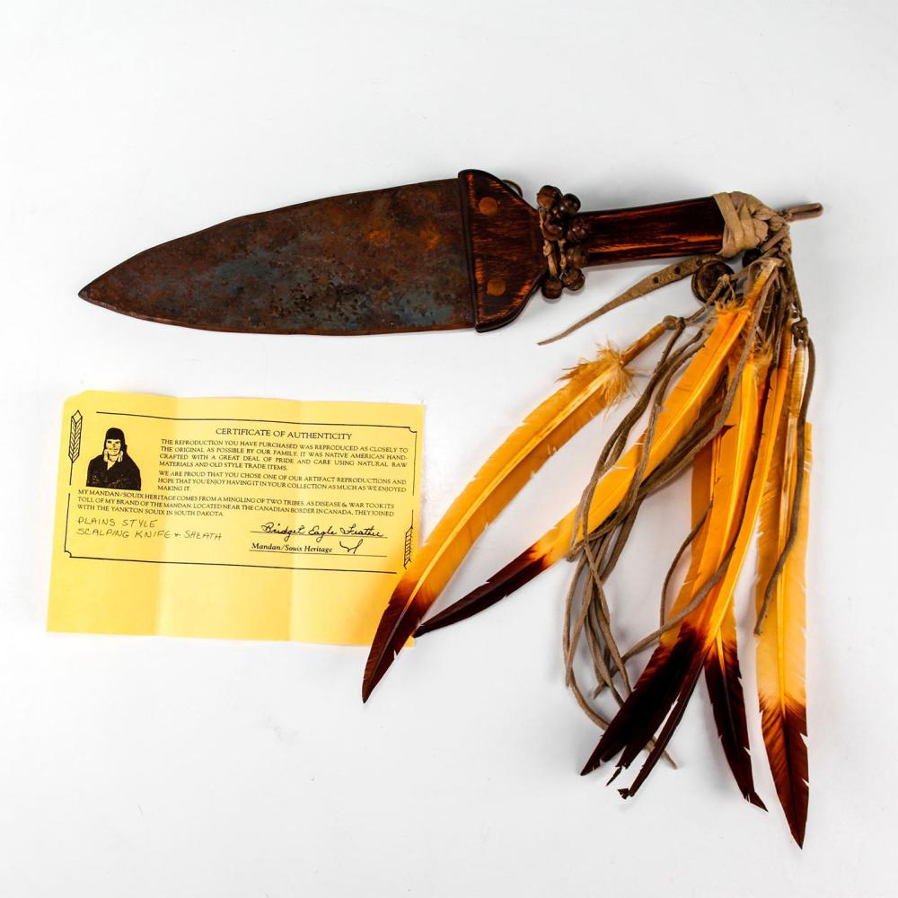 NATIVE AMERICAN TRIBAL PLAINS STYLE SCALPING KNIFE