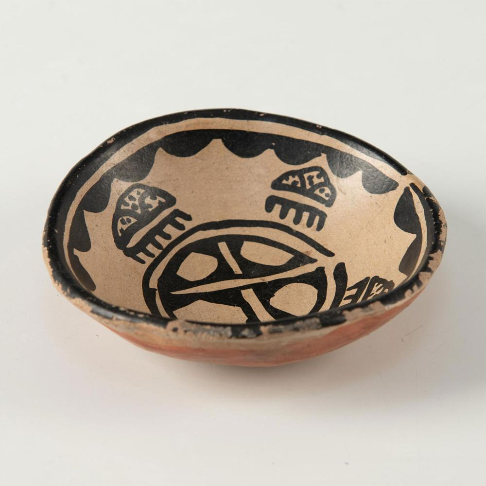 NATIVE AMERICAN SMALL TESUQUE INDIAN FINGER BOWL