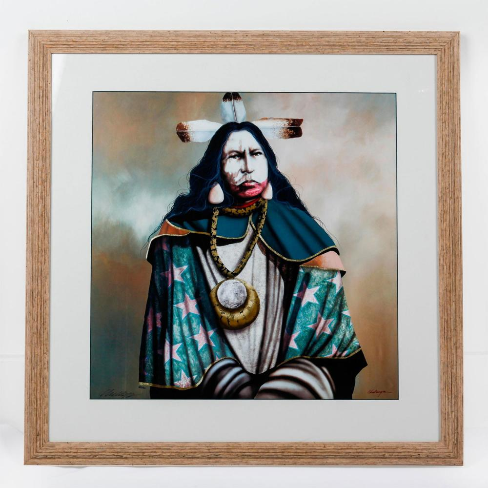 NATIVE AMERICAN LIMITED EDITION PRINT BY J.D. CHALLENGER