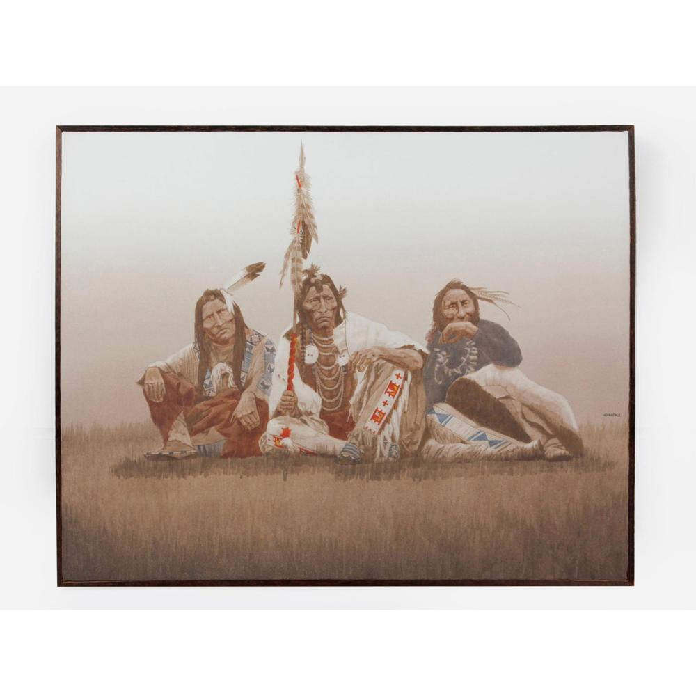 JOHN PACE (1930-2006) NATIVE AMERICAN OIL PAINTING, SIGNED