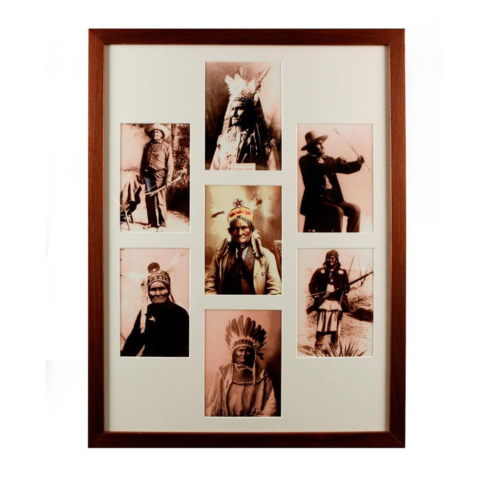 7 PHOTOGRAPHS OF NATIVE AMERICAN INDIAN GERONIMO