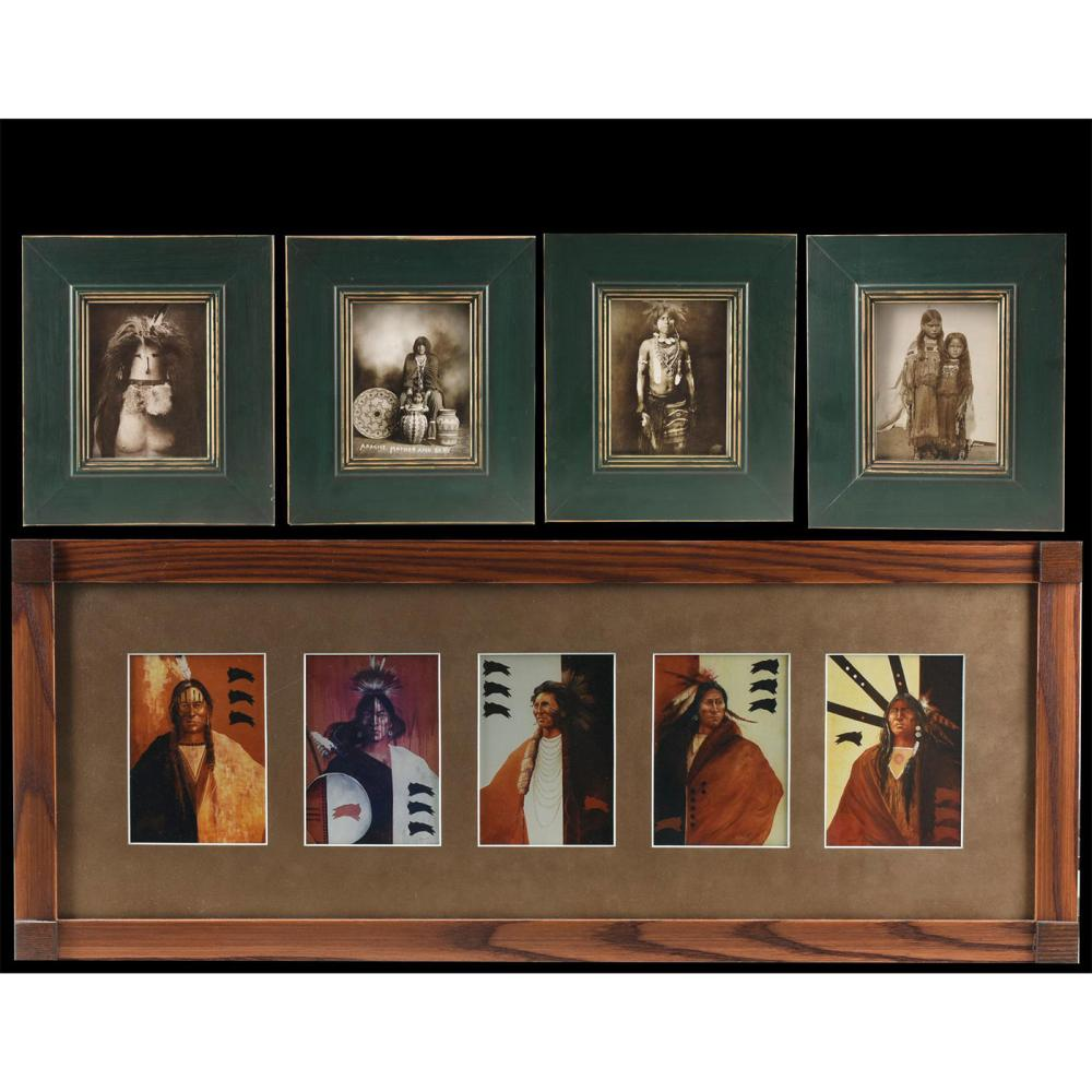 GROUP OF 5 IMAGES OF FAMOUS NATIVE AMERICANS