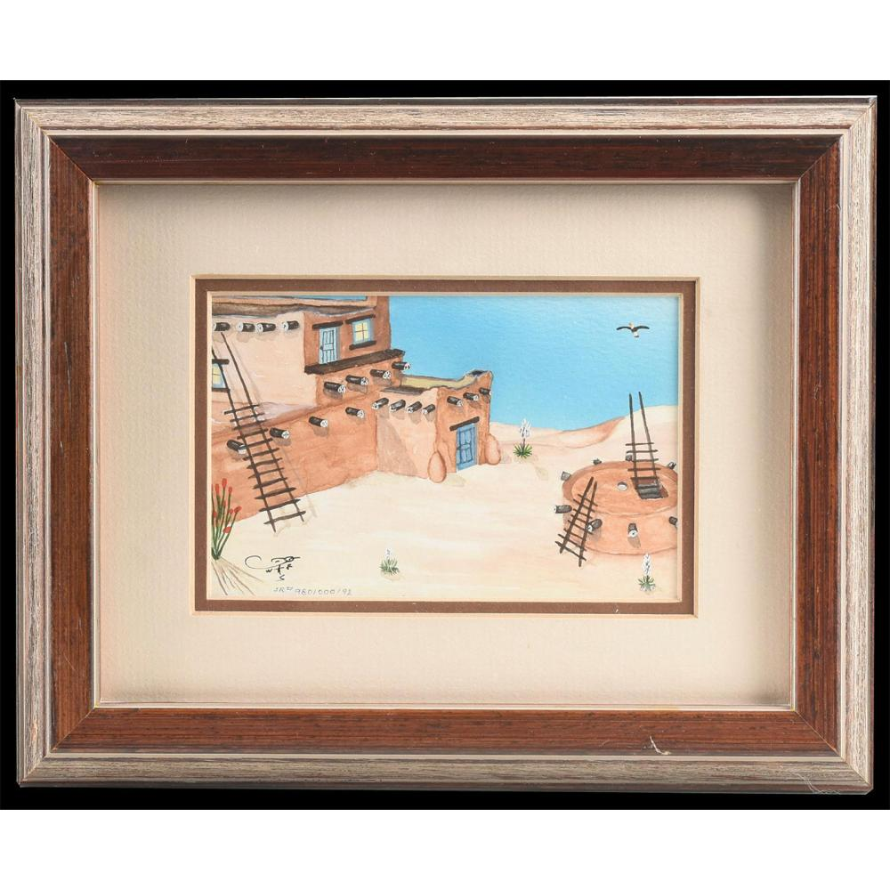 NATIVE AMERICAN LIMITED EDITION ART SIGNED BY ARTIST