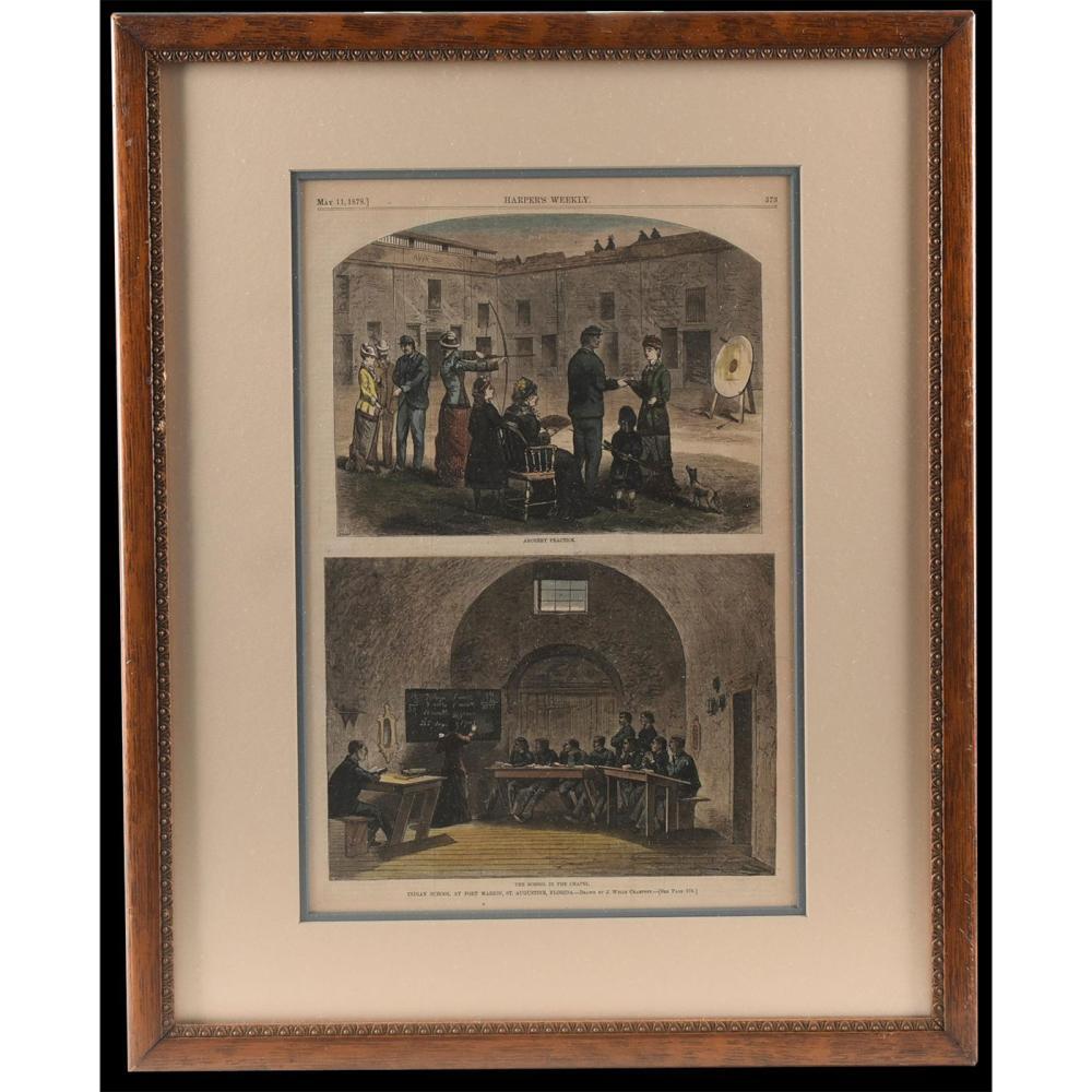 J. WELLS CHAMPNEY 1878 INDIAN SCHOOL DRAWINGS