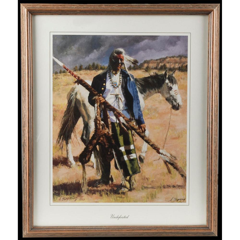NATIVE AMERICAN UNDEFEATED BY HOWARD TERPNING (1927 - )