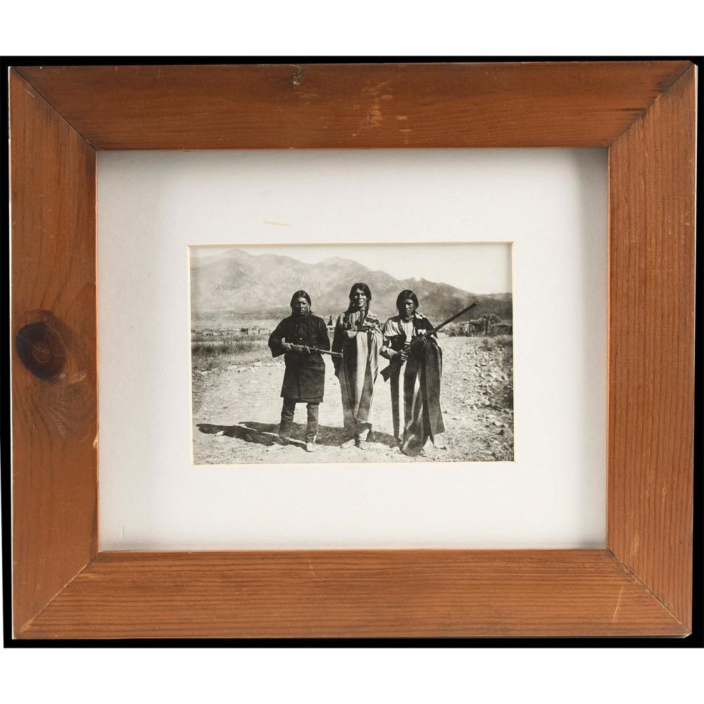 NATIVE AMERICAN FRAMED PHOTOGRAPH, B.G. RANDALL