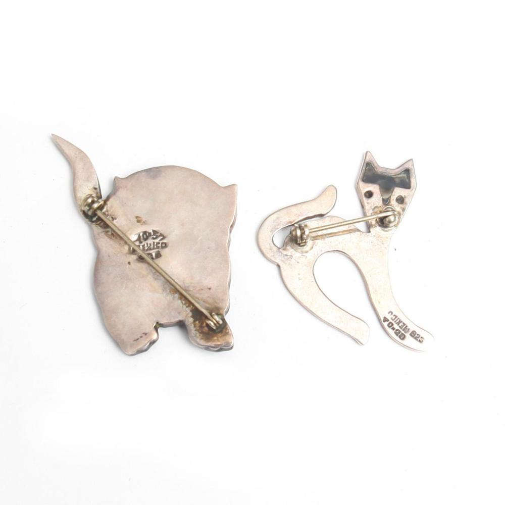 Sterling Silver Cat Pin from Mexico