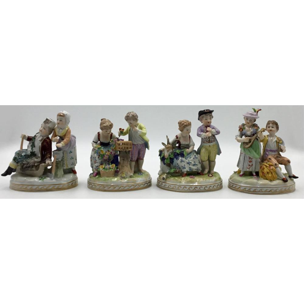 4 Seasons Group group of 4 seasons dresden porcelain figurines