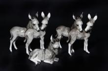 Group of 7 Hutschenreuther Animal Figurines