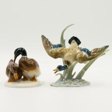 Pair of Hutschenreuther Duck Figurines