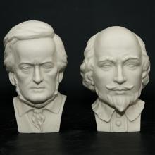 Pair of Hutschenreuther Bisque Porcelain Bust