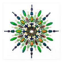 20 X 24 FULGENS PRISM NATURAL SPECIMEN ART BY CHRISTOPHER MARLEY