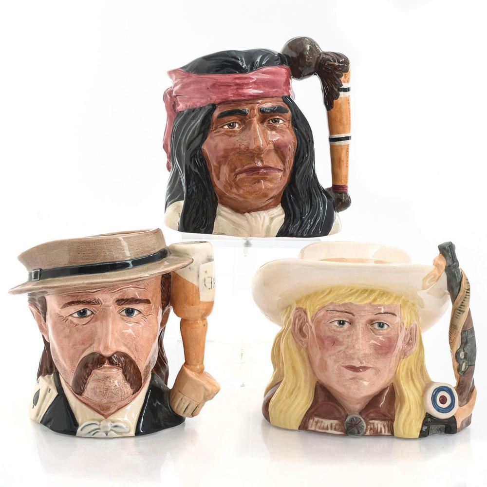 Lot 128: 3 LG ROYAL DOULTON CHARACTER JUGS, THE WILD WEST