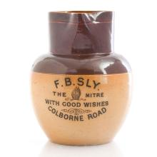 Lot 375: DOULTON LAMBETH CERAMIC ADVERTISING WARE PITCHER