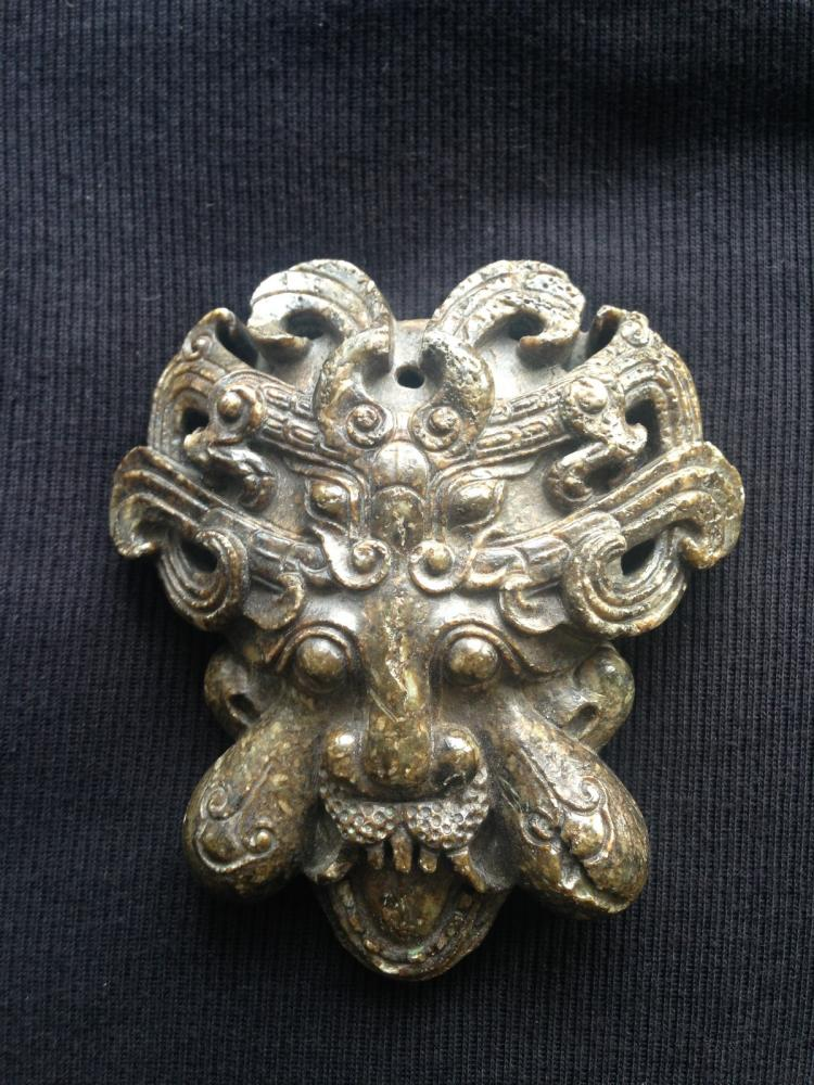Chinese Anicient Jade Mask