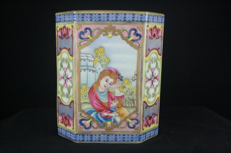 Chinese Enamel Porcelain Brush Pot