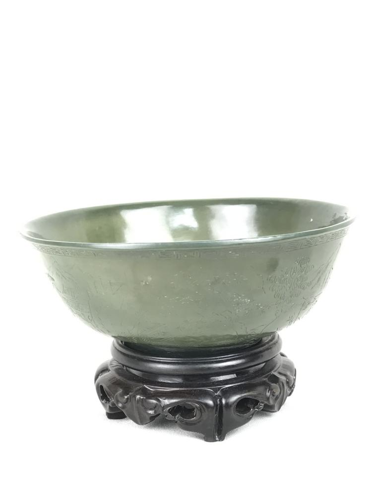Chinese Green Jade Bowl