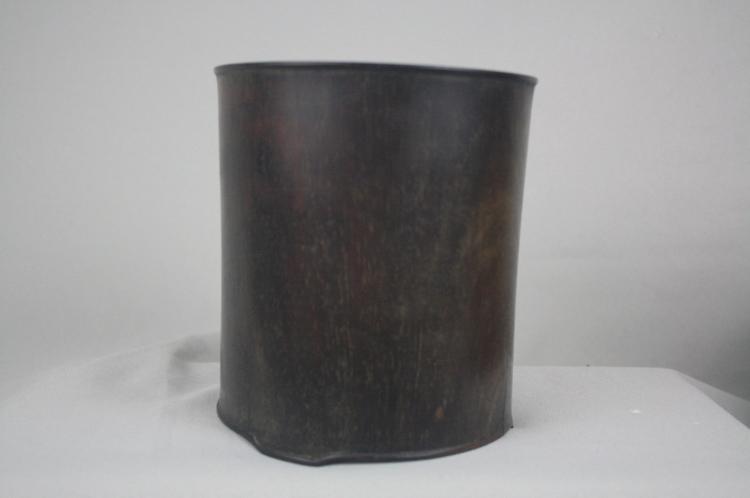 Chinese 19th Century Zi-Tang Brush Pot