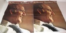 2 1972 McGovern for president posters