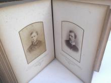 Photo album with 24 cabinet cards
