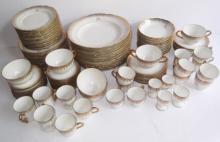JPL LIMOGES FRANCE white & gold dishes