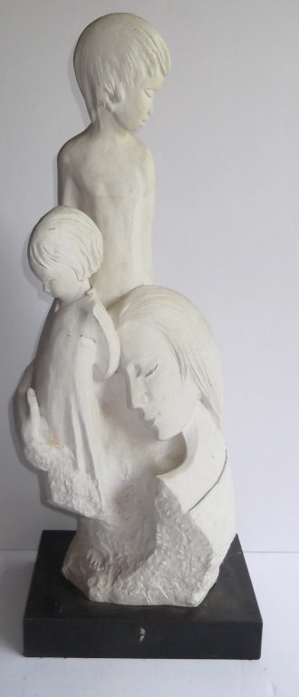 mother with children sculpture by Fisher