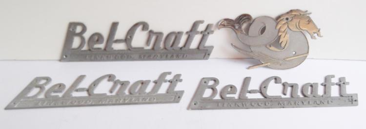 1960's Bel-Craft  boat emblems