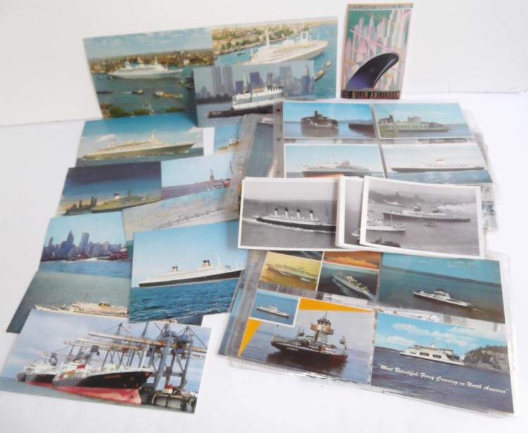 140 assorted ship postcards
