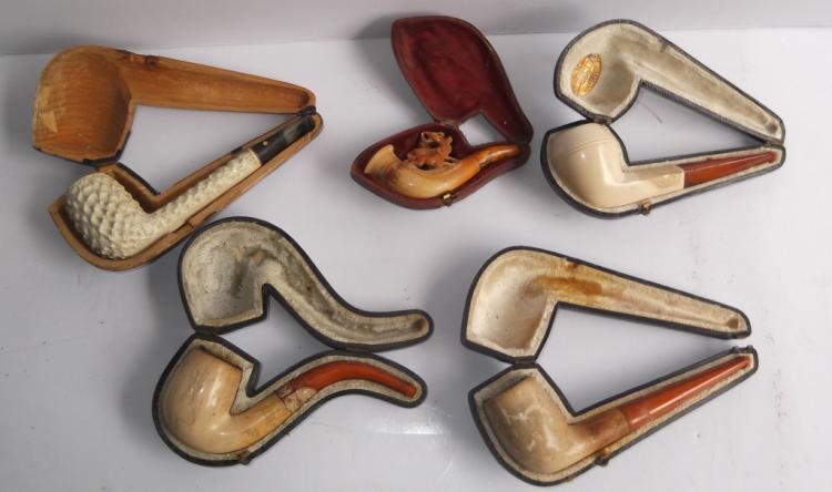5 meerschaum pipes