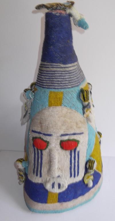 African beaded headdress piece
