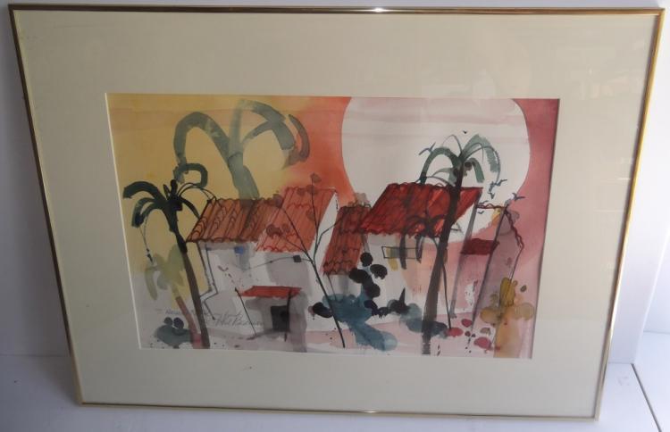 House scene watercolor