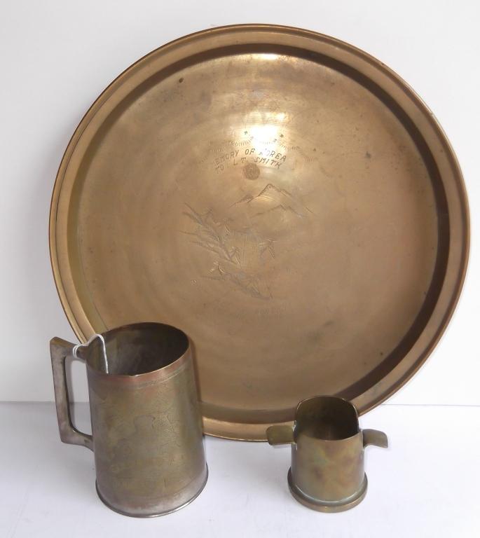 3 piece WWII trench art items