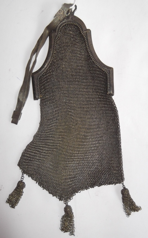 Antique metal mesh purse