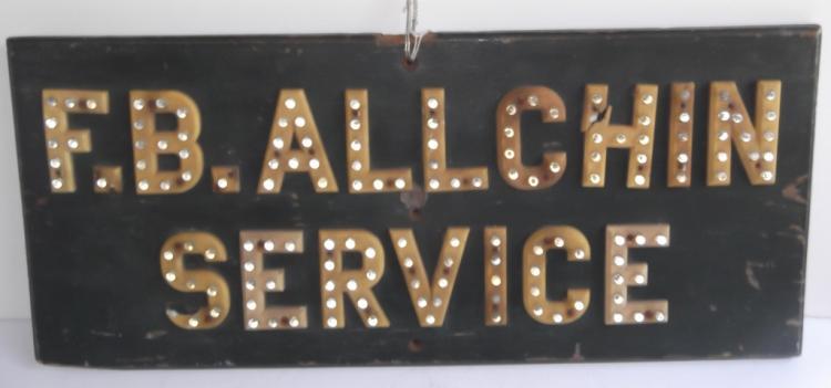 Vintage F.B. Allchin Service sign