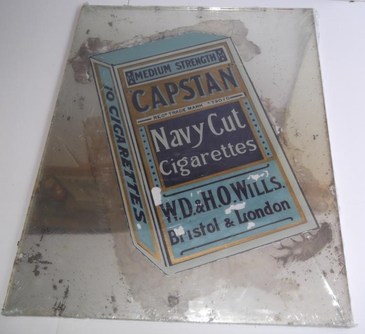 Wills Capstan Navy Cut cigarette mirrored sign