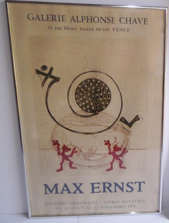 1976 Max Ernst exhibition poster