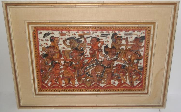 20th c. framed textile