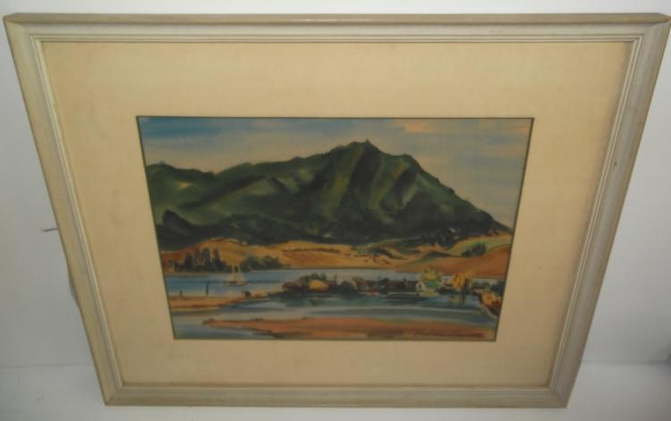 watercolor signed Barbara Carpenter