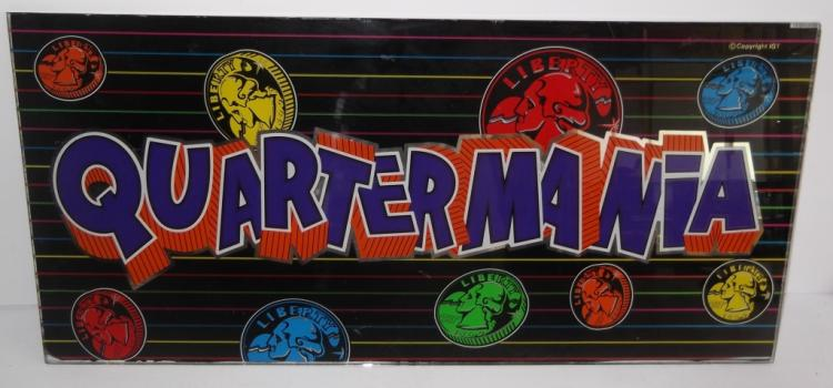 Quarter Mania Slot Machine Glass Insert