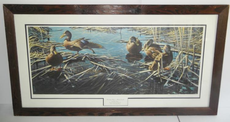 Duck Lithograph signed & numbered