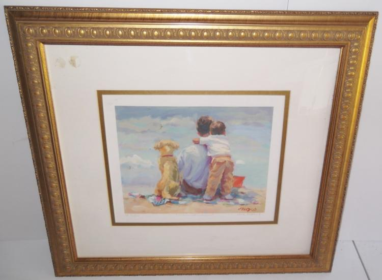 Offset Lithograph signed Lucelle Raad