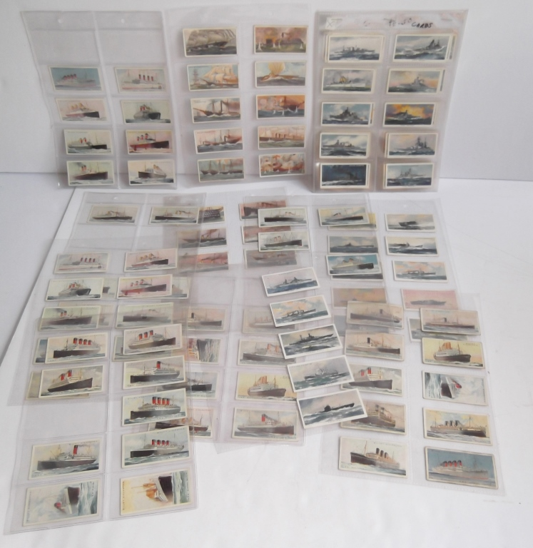 134 various cigarette collectible cards