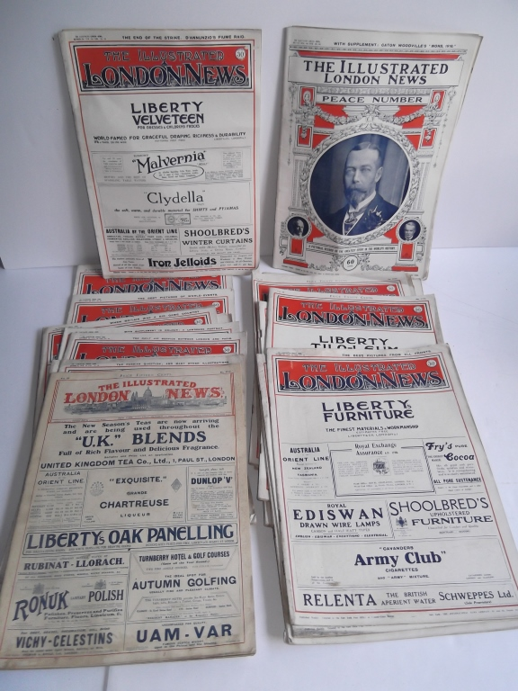 21 issues of The Illustrated London News magazines
