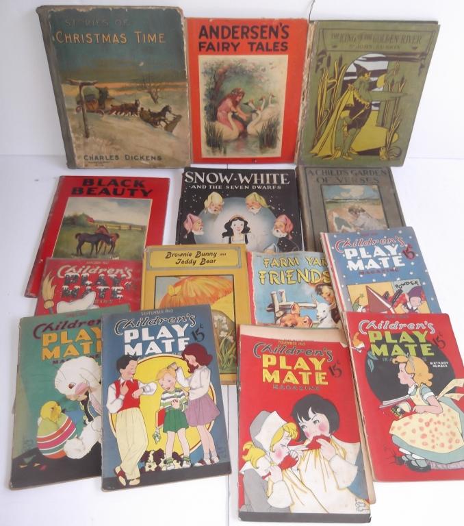14 antique/vintage children's books