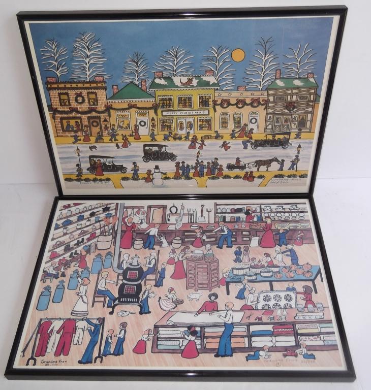2 Grandma  Fran lithographs