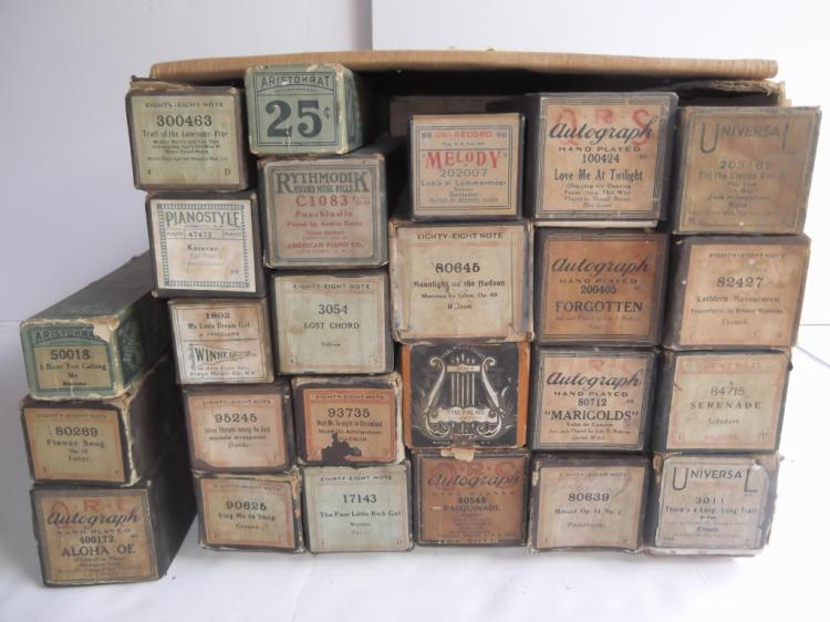 Collection of 25 piano rolls
