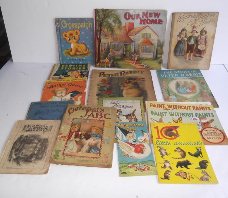 10 antique/vintage children's books