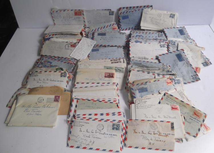 Collection of 1950's 100 letters & envelopes