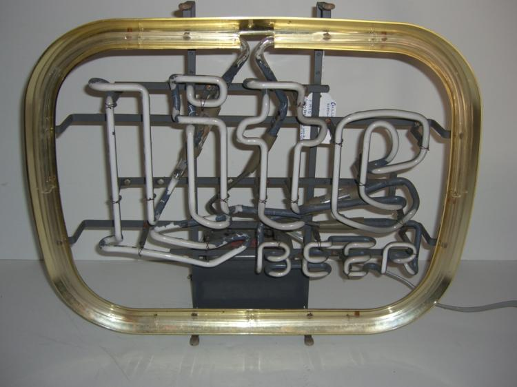 Neon (Miller) light beer sign